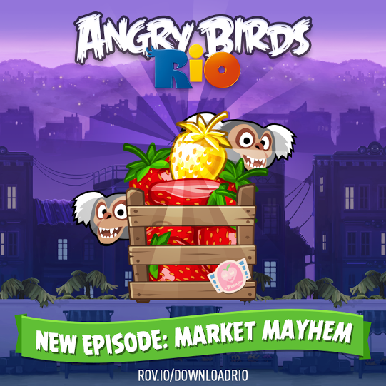 Warriors Market Mayhem Mod Apk: Angry Birds Rio Gets The Market Mayhem Update, Bringing